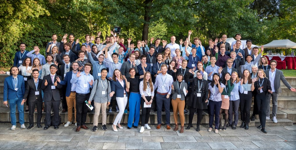 Students of all three Max Planck Schools at Kick-off-symposium of the Max Planck Schools in September 2019.  Photographer: David Ausserhofer