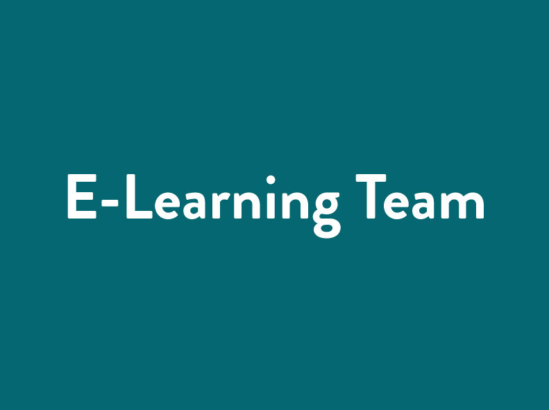 Who is taking care of the e-Learning?